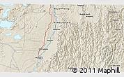 Shaded Relief 3D Map of Kawerau