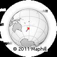 Outline Map of Kawerau, rectangular outline