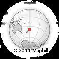 Outline Map of Tolaga Bay, rectangular outline