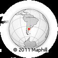 Outline Map of Argentina, rectangular outline