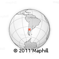 Outline Map of La Amarga Chica, rectangular outline
