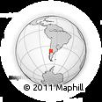 Outline Map of Cajón De Almanza, rectangular outline