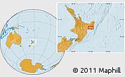 Political Location Map of Gisborne