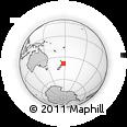 Outline Map of Gisborne, rectangular outline