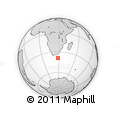 Outline Map of Western Cape, rectangular outline