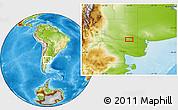 Physical Location Map of Juan de Garay