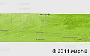 Physical Panoramic Map of Juan de Garay