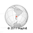 Outline Map of Cipolletti, rectangular outline