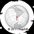 Outline Map of Astra, rectangular outline