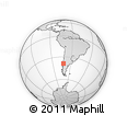 Outline Map of Araucania, rectangular outline