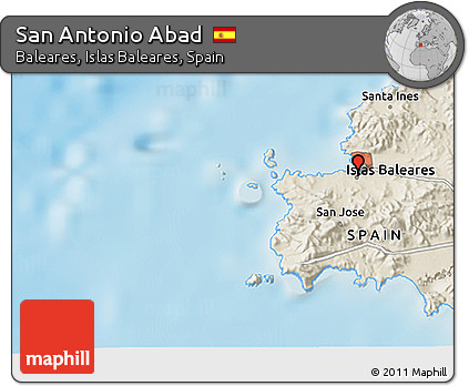 Free Shaded Relief 3d Map Of San Antonio Abad
