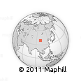 Outline Map of Shajingzi, rectangular outline