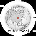Outline Map of Ehen Hudag, rectangular outline