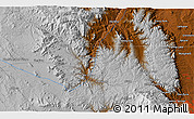 """Physical 3D Map of the area around 39°3'25""""N,105°19'29""""W"""