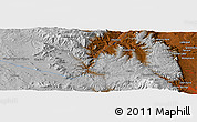 """Physical Panoramic Map of the area around 39°3'25""""N,105°19'29""""W"""