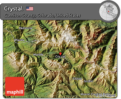 Crystal Colorado Map.Free Satellite 3d Map Of Crystal