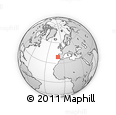 """Outline Map of the Area around 39° 3' 25"""" N, 10° 7' 30"""" W, rectangular outline"""