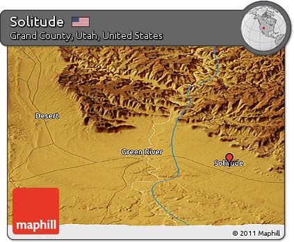 Solitude Utah Map.Free Physical Panoramic Map Of Solitude