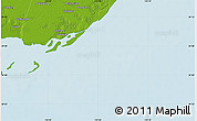 """Physical Map of the area around 39°3'25""""N,119°4'29""""E"""