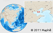 """Shaded Relief Location Map of the area around 39°3'25""""N,119°55'30""""E"""