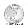 """Outline Map of the Area around 39° 3' 25"""" N, 119° 55' 30"""" E, rectangular outline"""