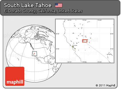 Free Blank Location Map of South Lake Tahoe