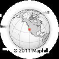 Outline Map of Stateline, rectangular outline