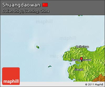 Physical 3D Map of Shuangdaowan