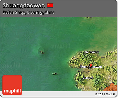 Satellite 3D Map of Shuangdaowan