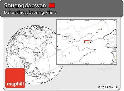 Blank Location Map of Shuangdaowan