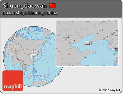 Gray Location Map of Shuangdaowan
