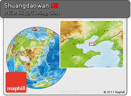 Physical Location Map of Shuangdaowan