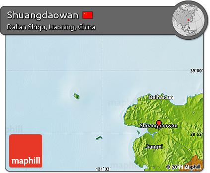 Physical Map of Shuangdaowan