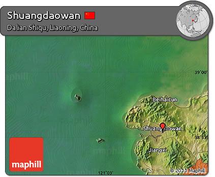 Satellite Map of Shuangdaowan