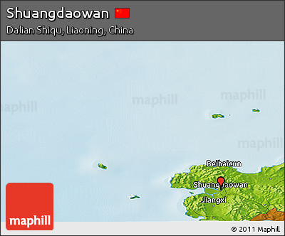Physical Panoramic Map of Shuangdaowan