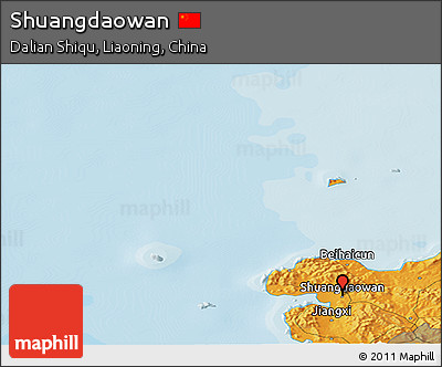 Political Panoramic Map of Shuangdaowan
