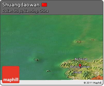 Satellite Panoramic Map of Shuangdaowan