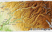 """Physical 3D Map of the area around 39°3'25""""N,120°37'30""""W"""