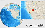 """Shaded Relief Location Map of the area around 39°3'25""""N,120°37'30""""W"""