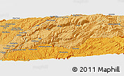 """Political Panoramic Map of the area around 39°3'25""""N,120°37'30""""W"""