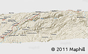 """Shaded Relief Panoramic Map of the area around 39°3'25""""N,120°37'30""""W"""