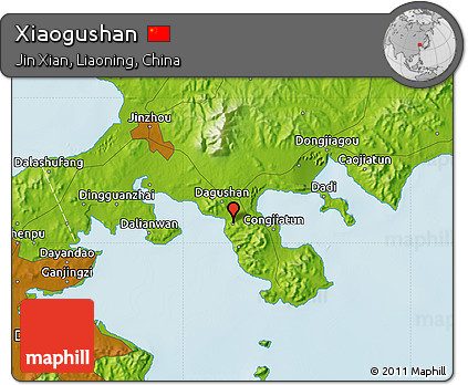 Physical Map of Xiaogushan