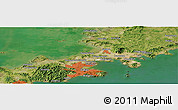 Satellite Panoramic Map of Wanli