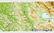 Physical 3D Map of Ukiah