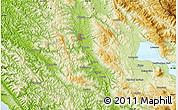 Physical Map of Ukiah