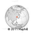 """Outline Map of the Area around 39° 3' 25"""" N, 124° 10' 30"""" E, rectangular outline"""