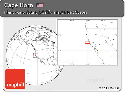Blank Location Map Of Cape Horn