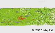 Physical Panoramic Map of Pyongyang