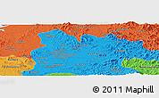 Political Panoramic Map of Pyongyang