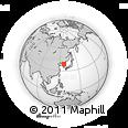 Outline Map of Wŏnsan, rectangular outline